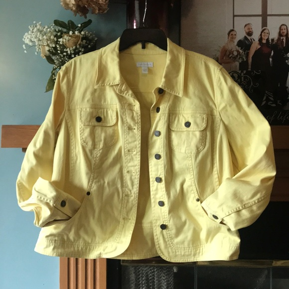 Charter Club Jackets & Blazers - Yellow jean jacket